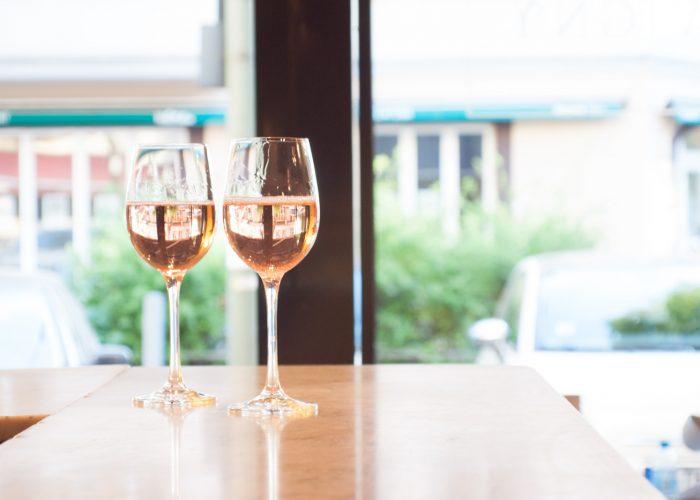 Rosé Wein Café Savigny Berlin